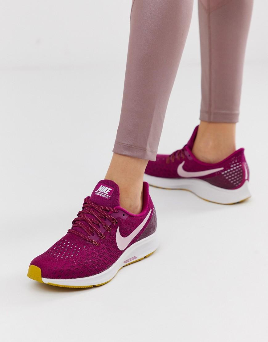 1c4793a8bd2e Nike Air Zoom Pegasus Trainers In Berry in Purple - Lyst