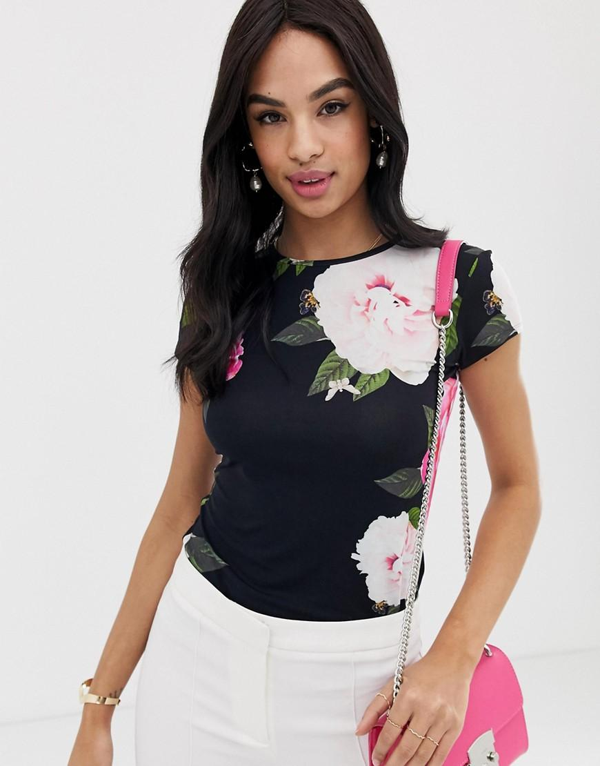 bee37fb1b Lyst - Ted Baker Alanyo Magnificent Floral Fitted T-shirt