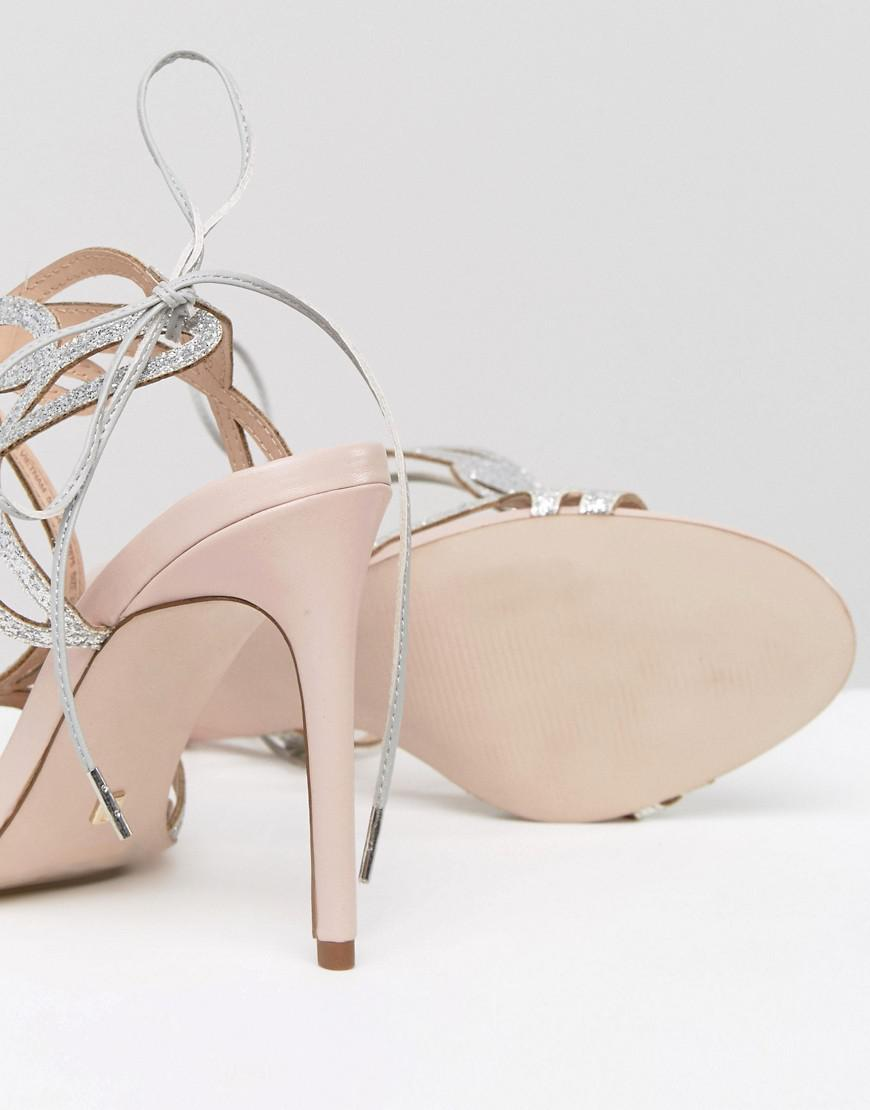 491a02a7997b0 Lyst - Faith Solo Fizz Cutout Heeled Sandals in Pink