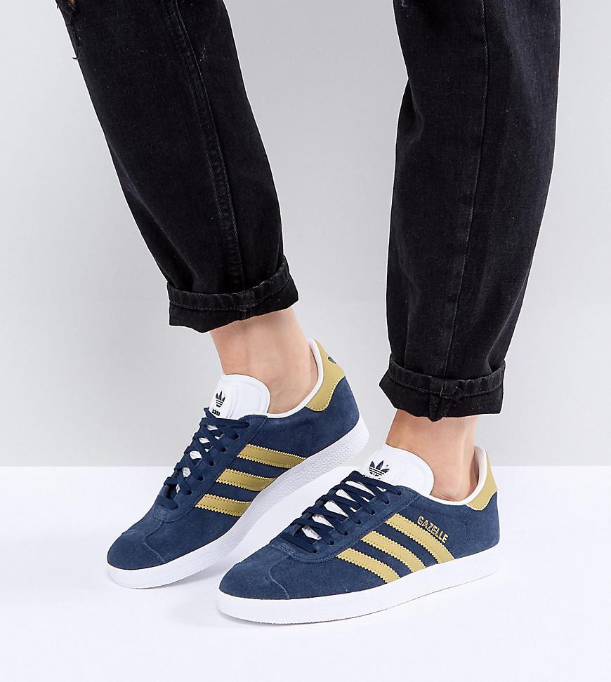 c993f73d119a Lyst - adidas Originals Originals Gazelle Sneakers In Collegiate ...