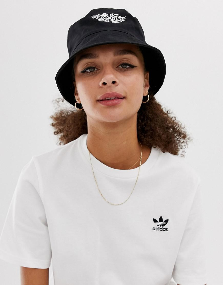 e28cc61a20c24e ASOS Bucket Hat With Motif in Black - Lyst