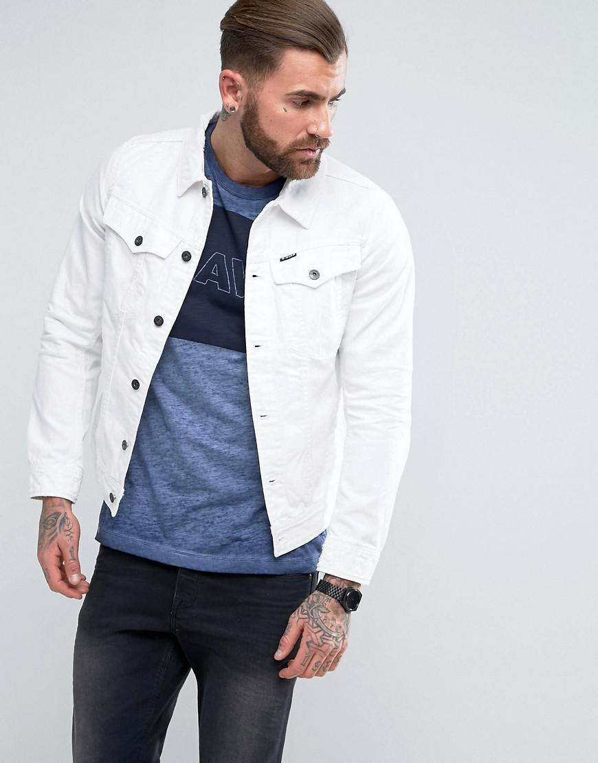 9dac4354c6a1 Lyst - G-Star RAW 3301 Mr Deconstructed 3d Slim Jacket in White for Men
