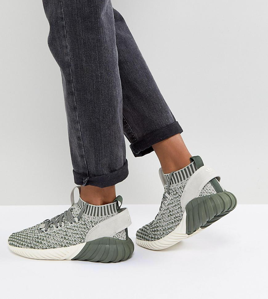 db3dc220c ... adidas originals. womens originals tubular doom sock trainers in green