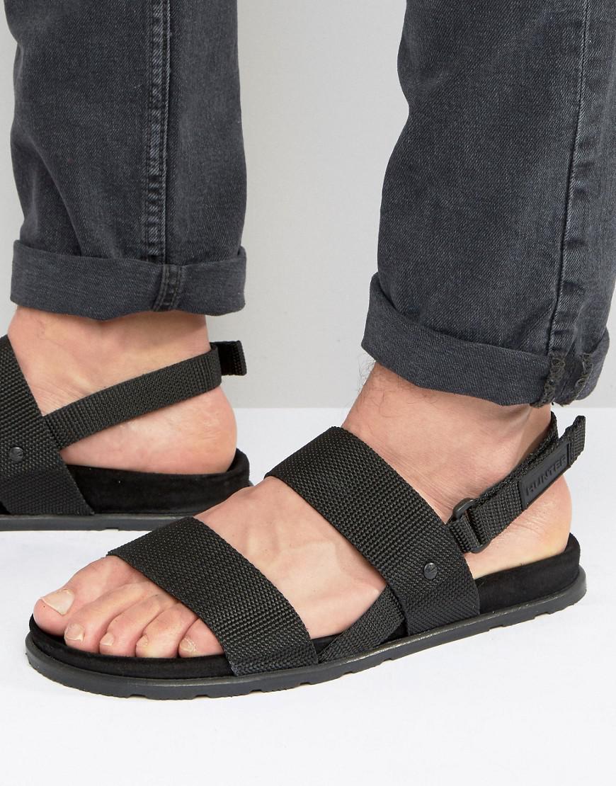 3fdfd53b13f HUNTER Original Webbing Sandals in Black for Men - Lyst