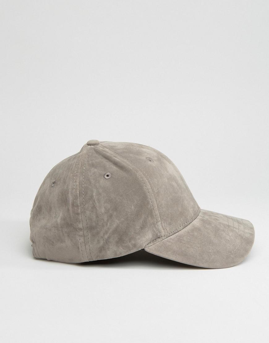 67632603616863 New Look Faux Suede Cap In Gray in Gray for Men - Lyst