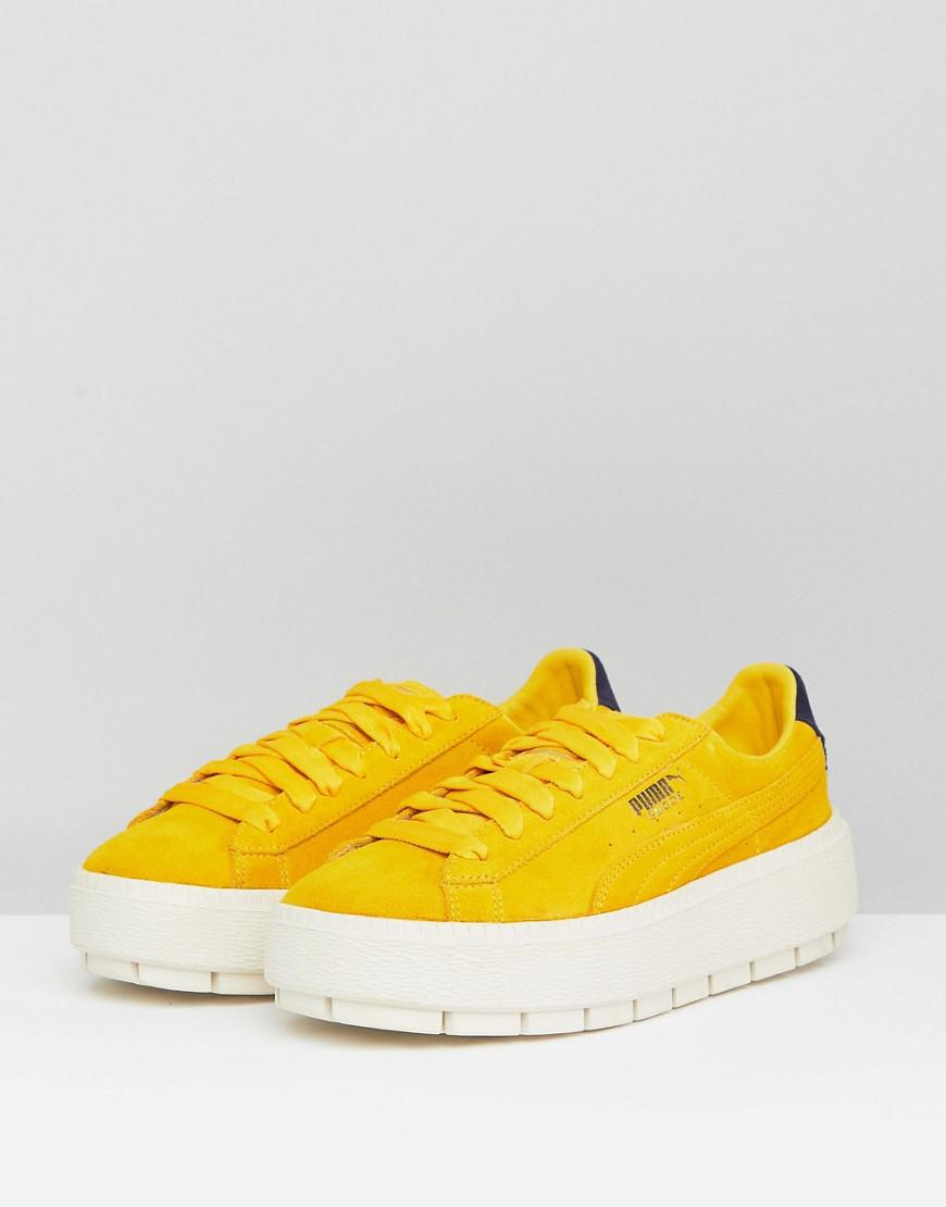 2fbf9aa7a4ce Lyst - PUMA Platform Trace Trainers In Yellow in Yellow