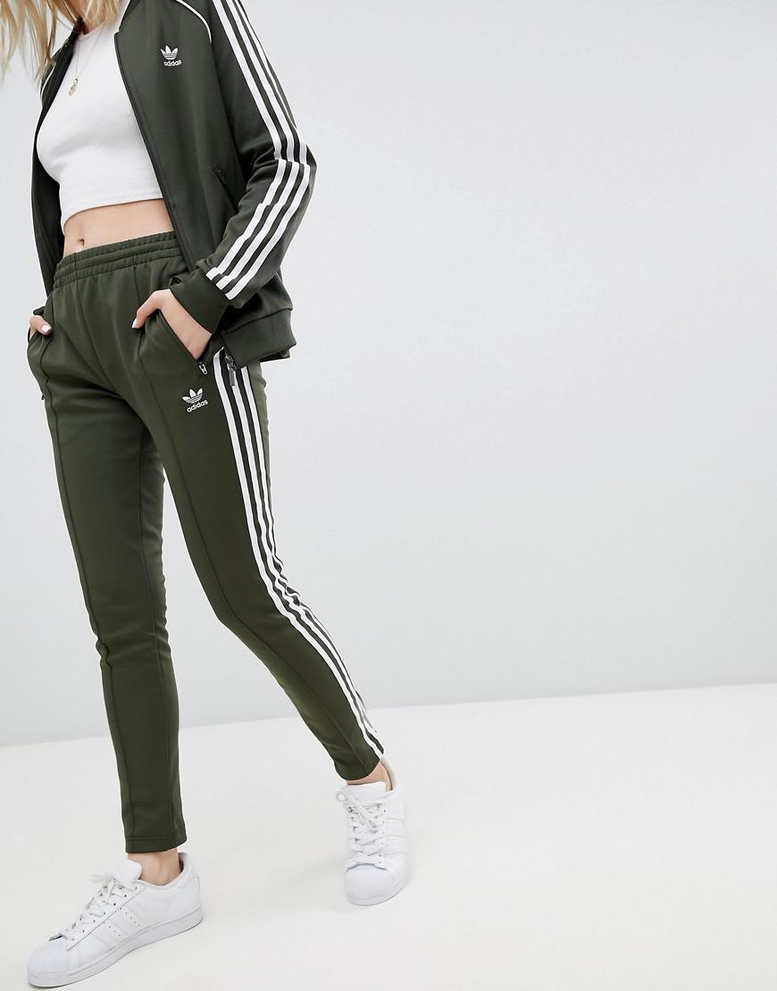 772f69c072 Pantalon de jogging trois bandes adidas Originals en coloris Vert - Lyst