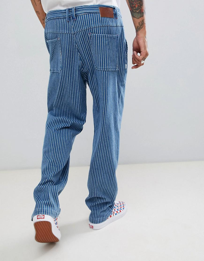 Lyst Fairplay High Waist Worker Pant In Blue Stripe In Blue For Men