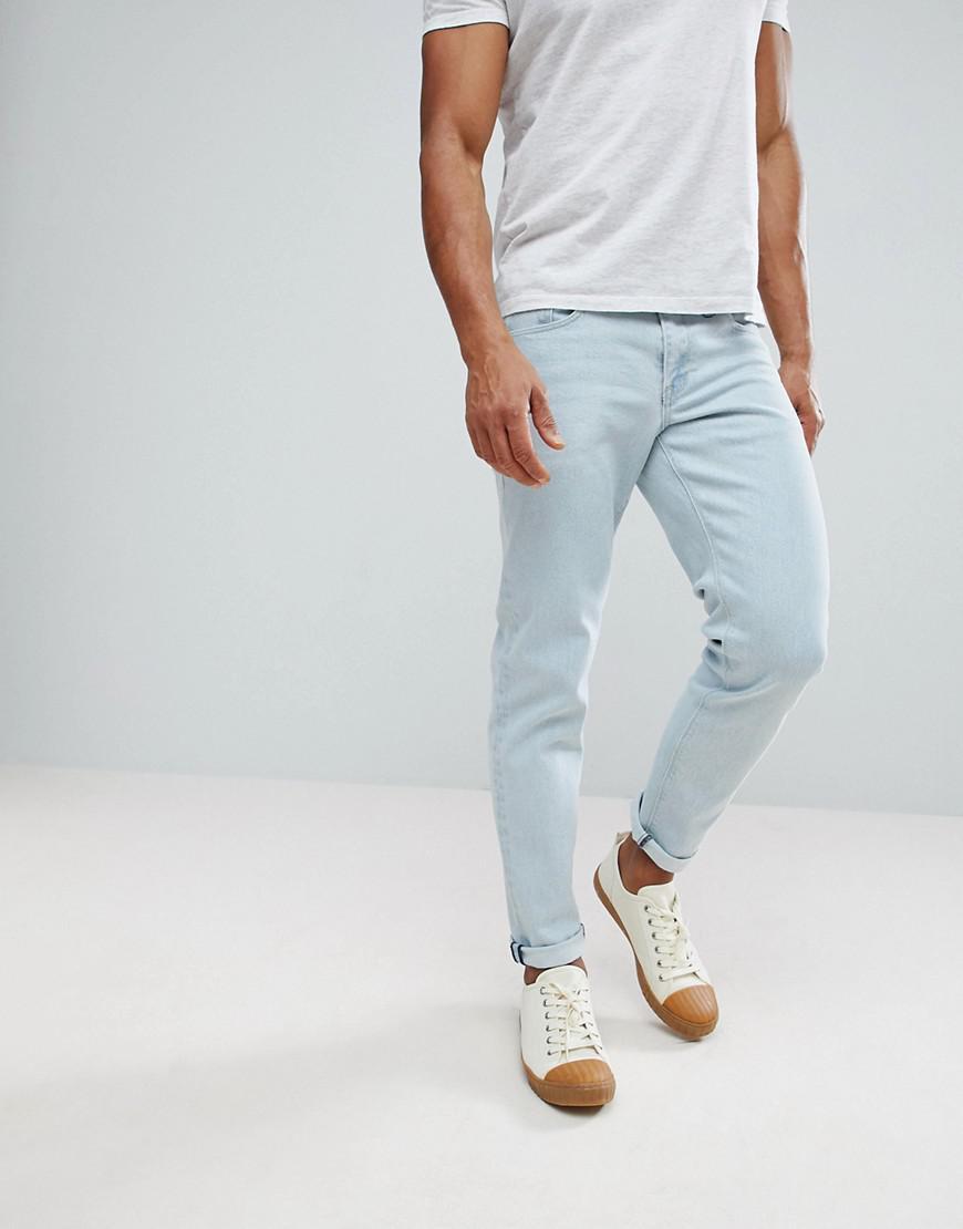 Slim Jeans In Flat Light Wash - Light wash blue Asos 3oTNJp6OWH