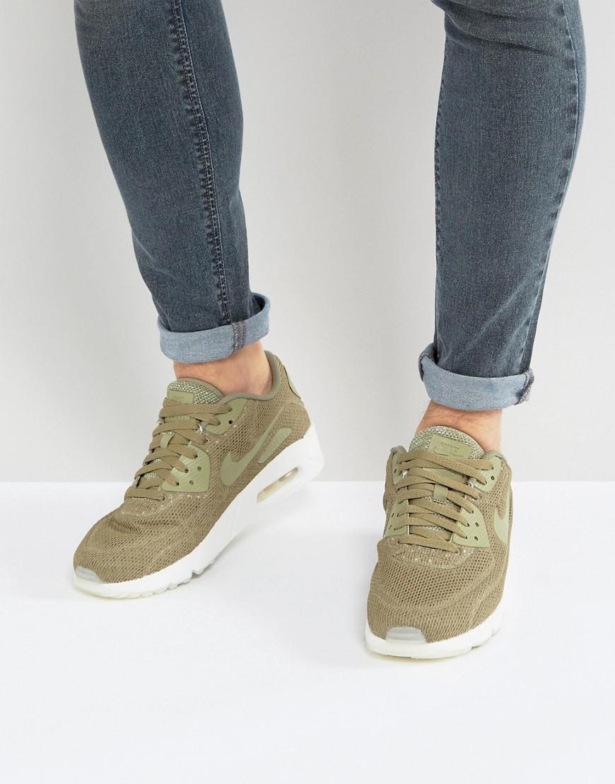 fe64d5df6f Nike Air Max 90 Ultra Breathe Trainers In Green 898010-200 in Green ...