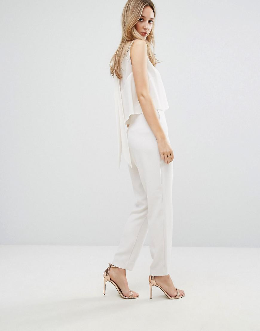 utterly stylish attractive style choose original Reiss White Flavia High Necked Sleeveless Jumpsuit
