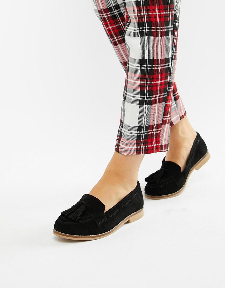 07a02677282 ASOS Message Suede Tassel Loafers in Black - Save 41% - Lyst