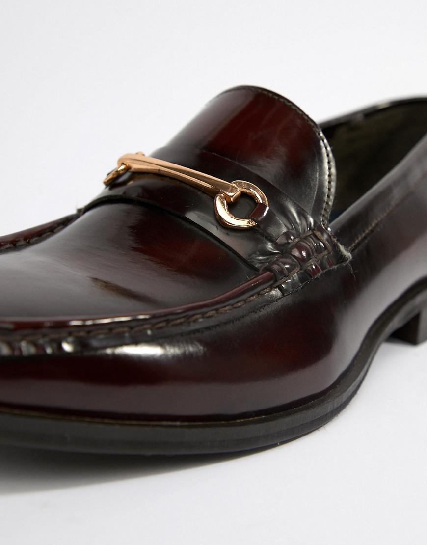 Leather Luca Men Loafers Red For In Ben Bordo Lyst Sherman gwqYRY