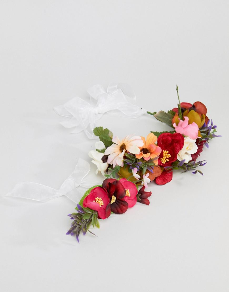 Asos Bridesmaid Floral Garland Headband And Corsage Bracelet Lyst