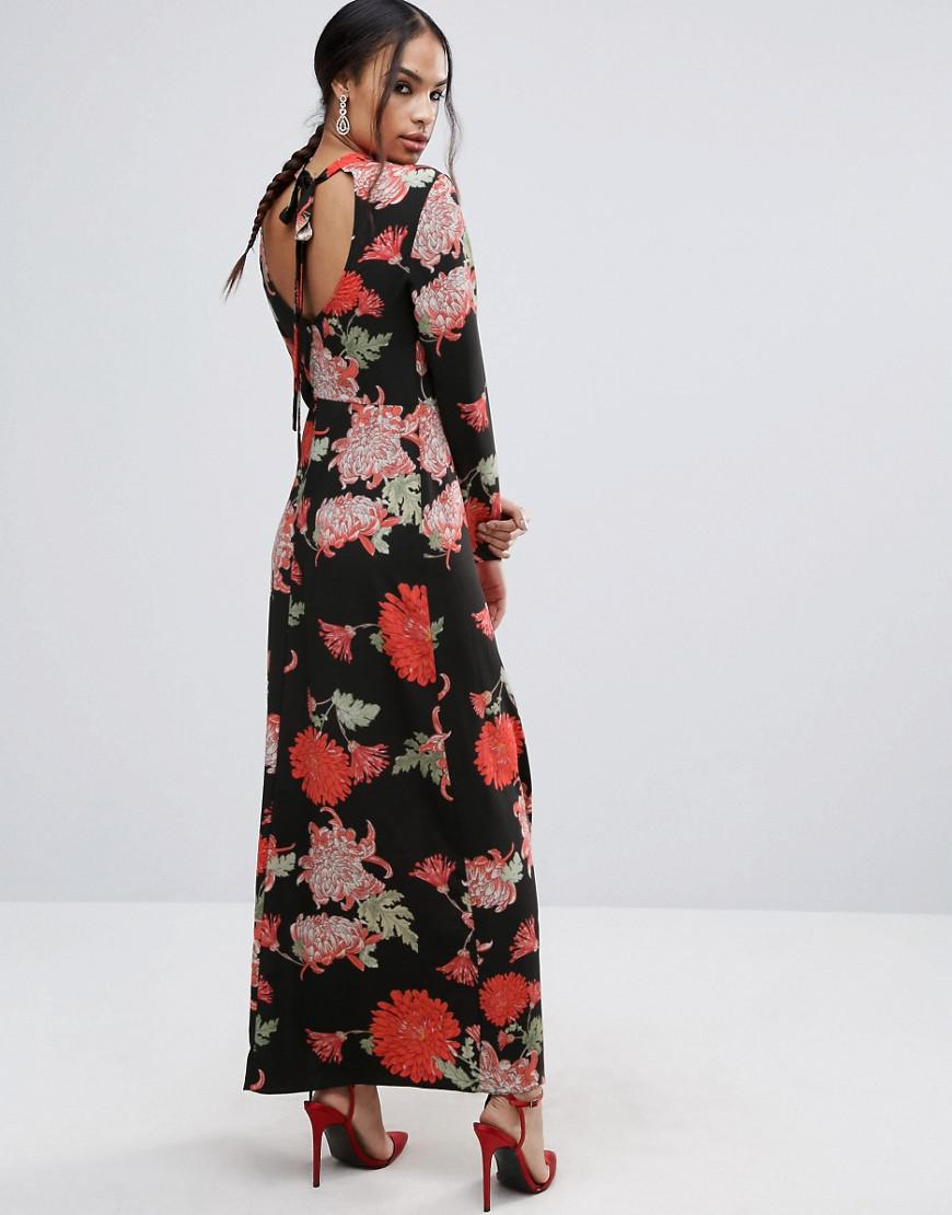 e546977319e86 Long Sleeve Floral Maxi Dress Asos