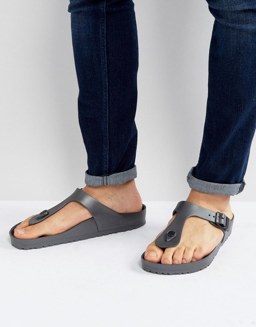 640f115d912 Birkenstock Gizeh Eva Metallic Sandals In Anthracite in Gray for Men ...