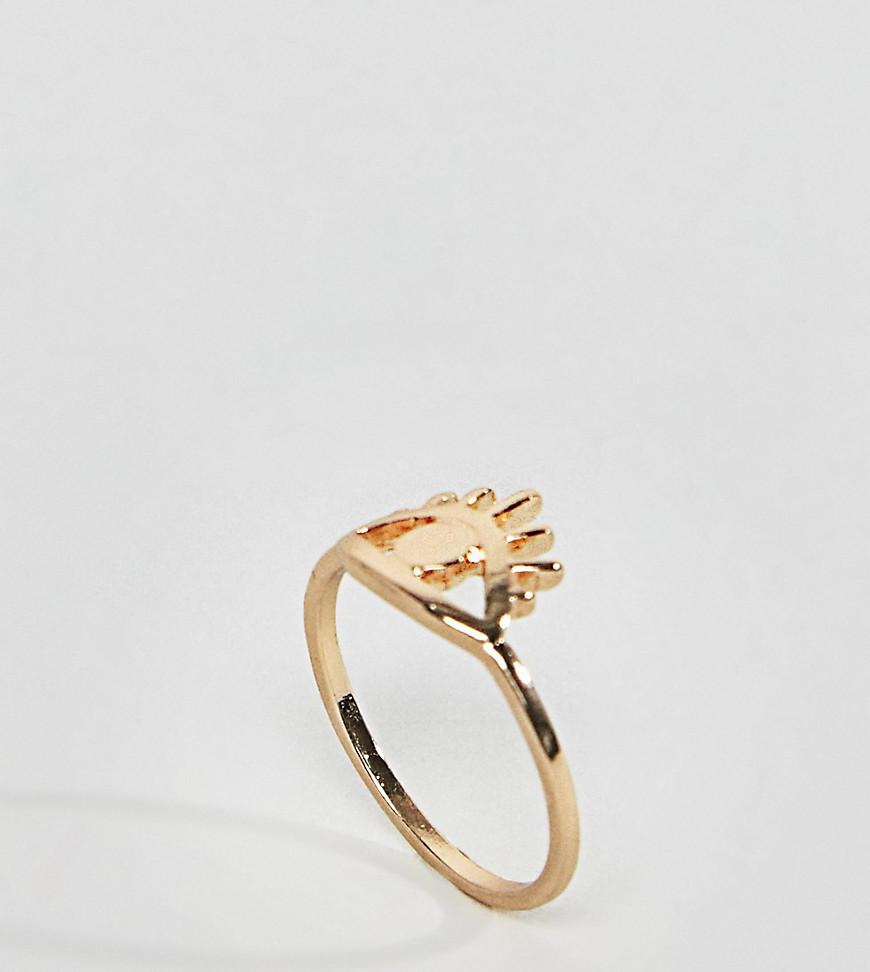 ASOS DESIGN Curve Exclusive Lionhead Ring - Gold Asos Curve Afjbn