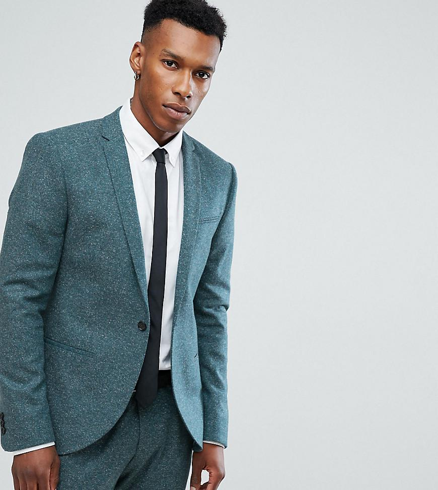 Lyst - Noak Skinny Suit Jacket In Fleck in Green for Men