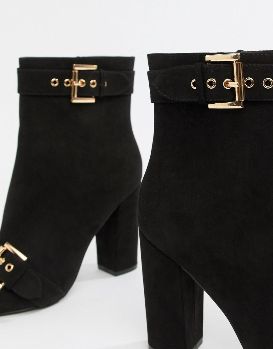 6278ee0d2459 Lyst - London Rebel Pointed Heeled Ankle Boots in Black