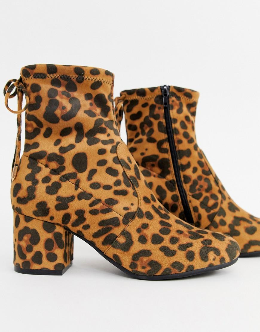 e98766c4d950 Dune Head Over Heels Oakley Block Heeled Ankle Boots In Leopard in Brown -  Save 7% - Lyst