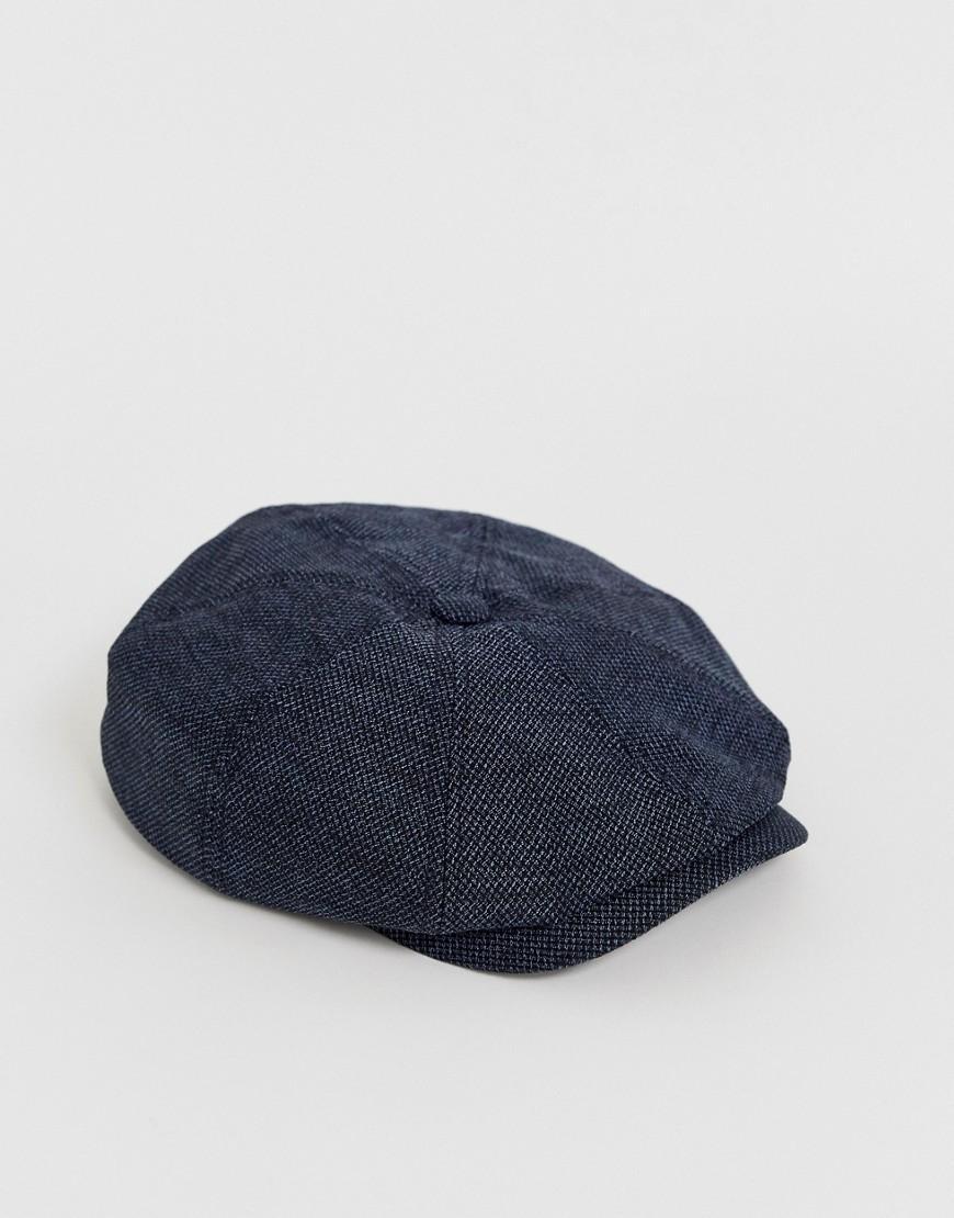 4316de48505 Ted Baker Treacle Baker Boy Cap In Blue in Blue for Men - Lyst