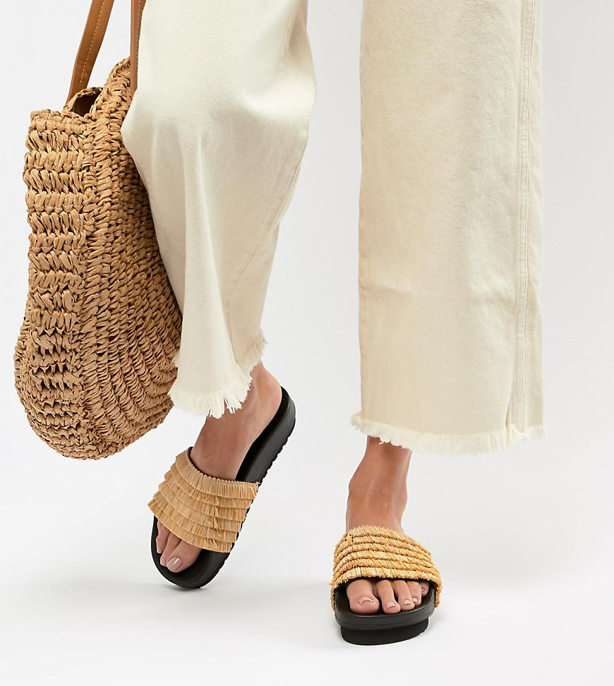 Lyst Lyst Sliders Seven Seven in Sixtyseven Flatform Natural Sixty TrTxgqwB