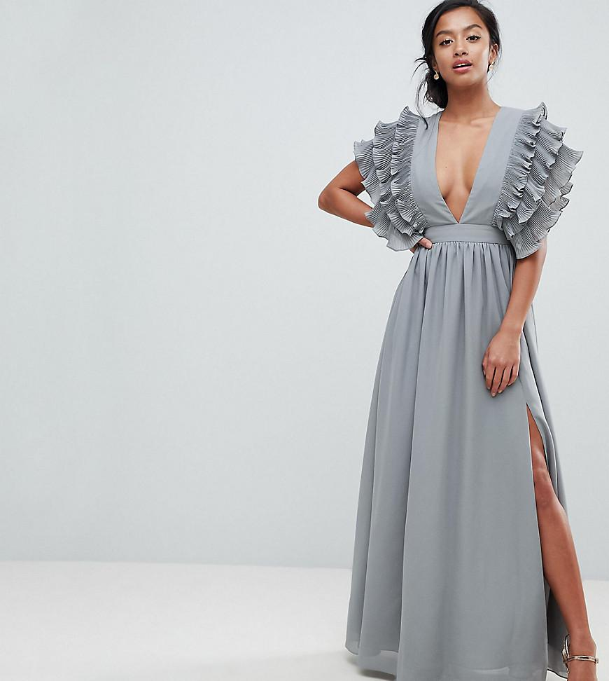 ad2b08c0197 True Decadence Premium Plunge Front Maxi Dress With Shoulder Detail ...