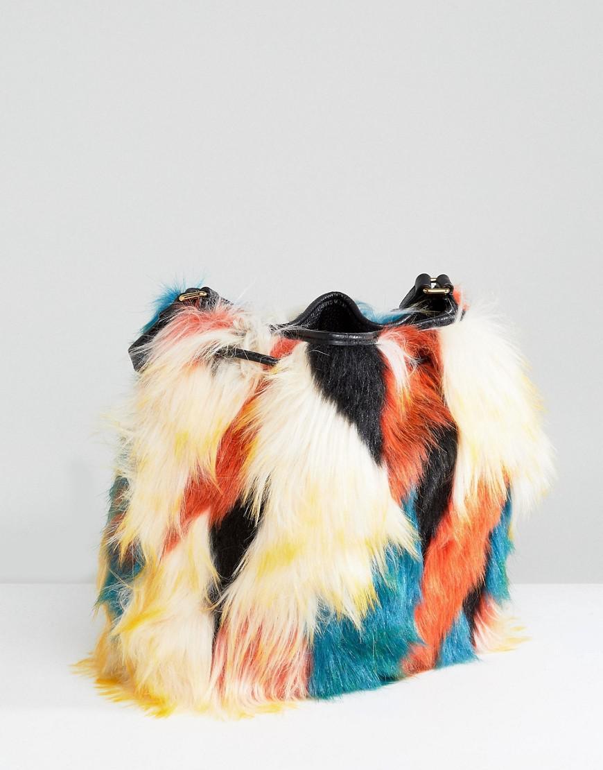 Lidiya Faux Fur Patchwork Bucket Bag - Multi UGG 30pBObfRs