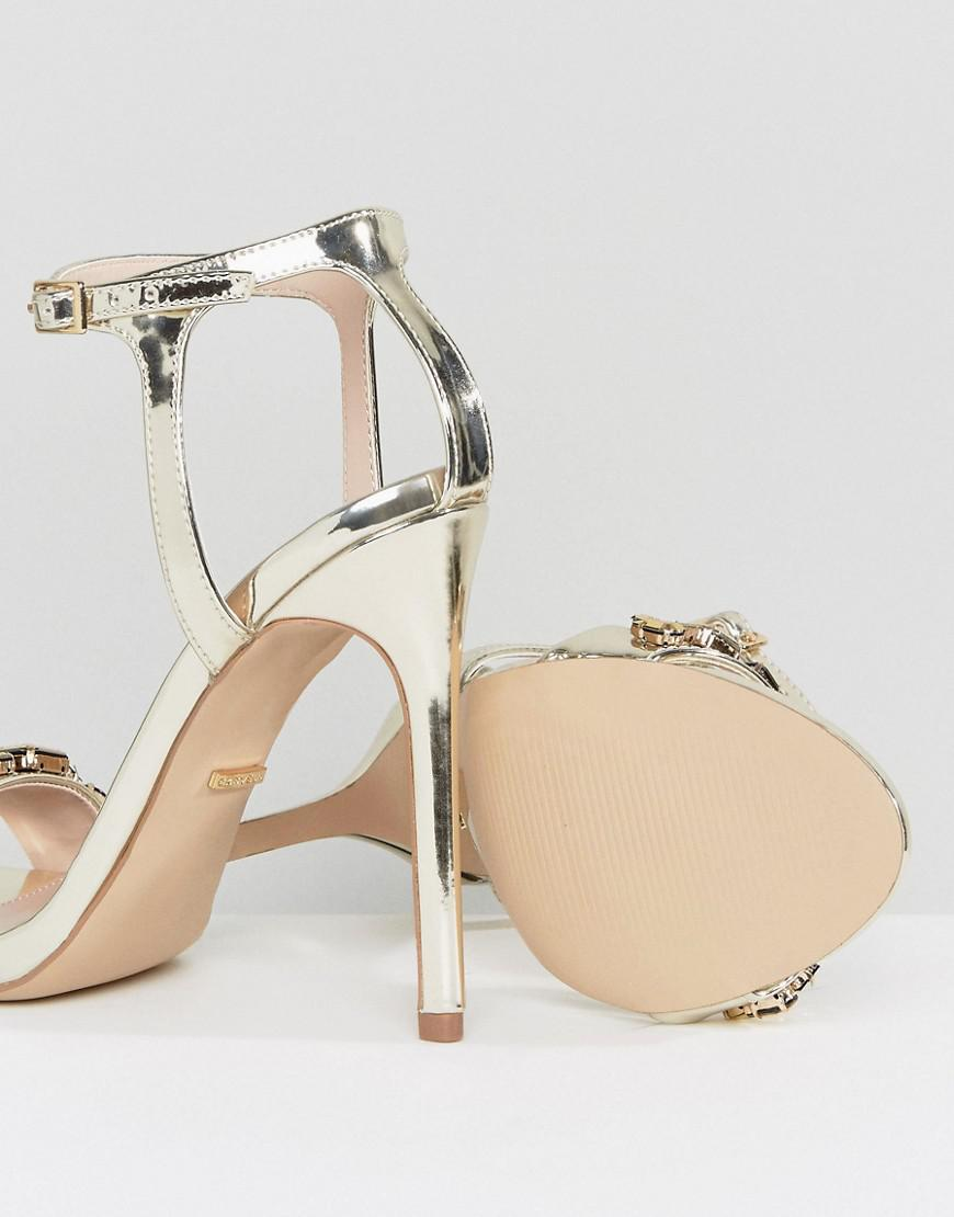 Gail Rose Gold Embellished Heeled Sandals - Gold Carvela suaeq