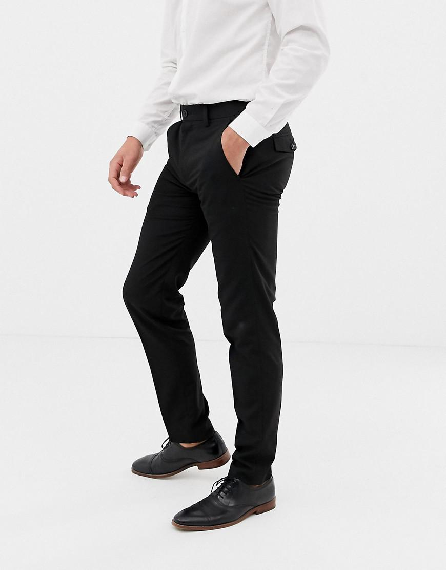 4429b256b050 Lyst - French Connection Plain Skinny Fit Trousers in Black for Men