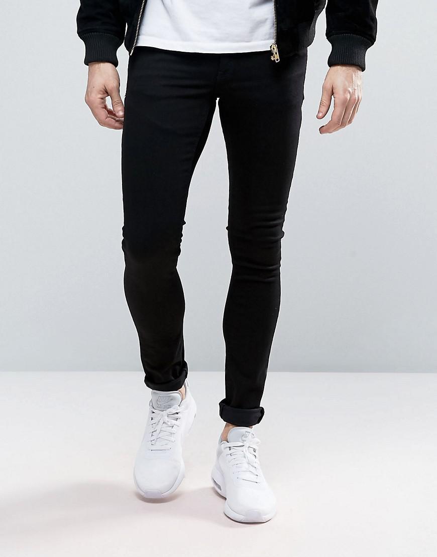 ASOS. Men's Extreme Super Skinny Jeans In Black