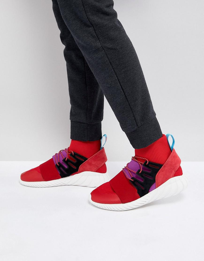 size 40 7c56e b0871 adidas Originals. Men s Tubular Doom Winter Trainers In Red By9397