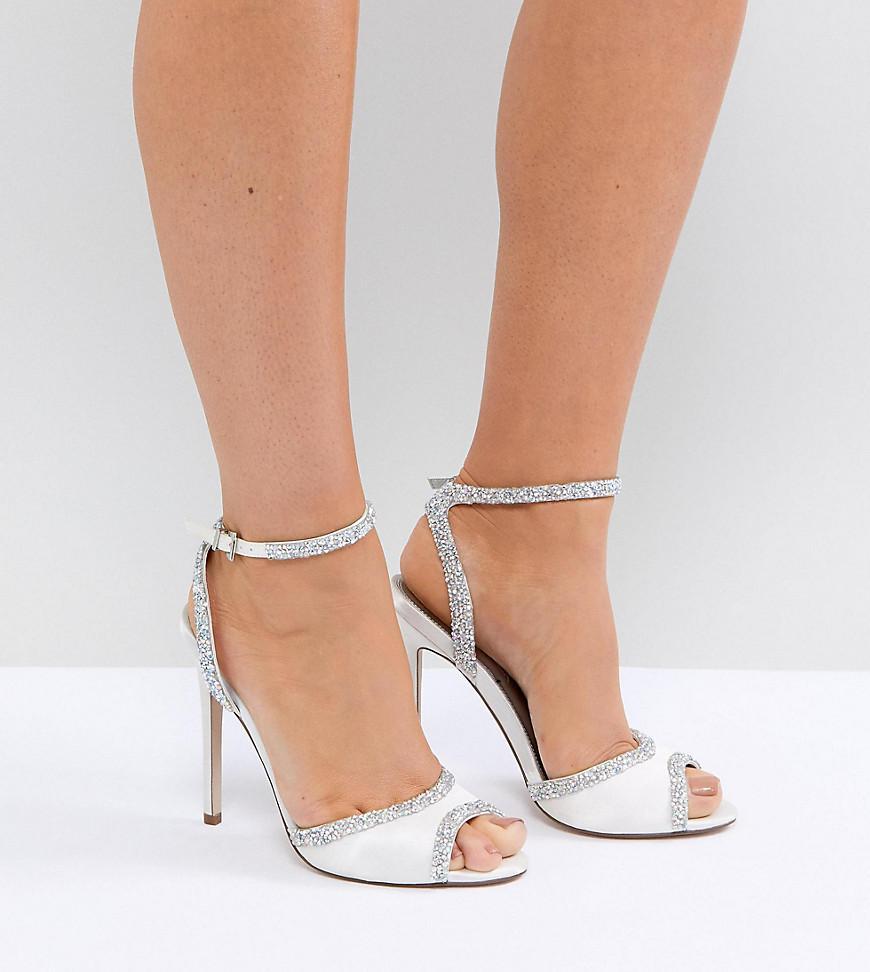 ASOS HITCHED Bridal Embellished Heeled Sandals TMAM3kuJ