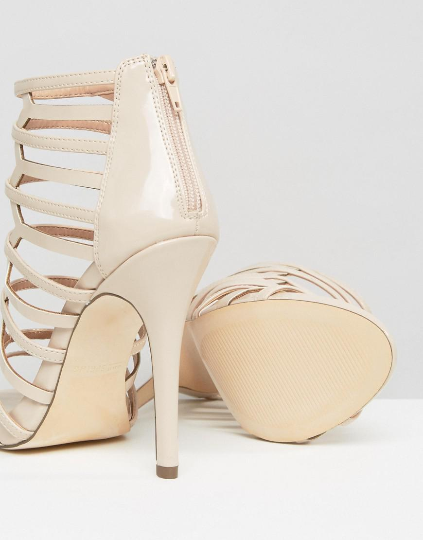 5f403c1cee5 Call It Spring - Natural Astausien Cut Out Heeled Sandals - Lyst. View  fullscreen