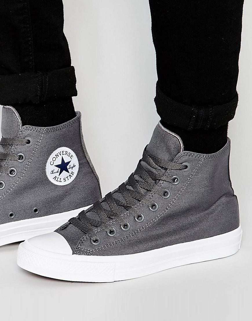 6ab4ab28c080 Converse Chuck Taylor All Star Ii Hi-top Plimsolls In Grey 150147c ...