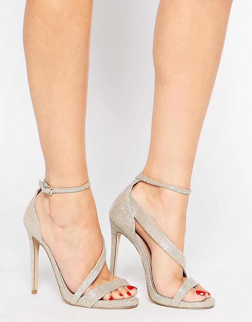 cfd09f530ac6 Carvela Kurt Geiger Gosh Gold Heeled Strap Sandals in Metallic - Lyst