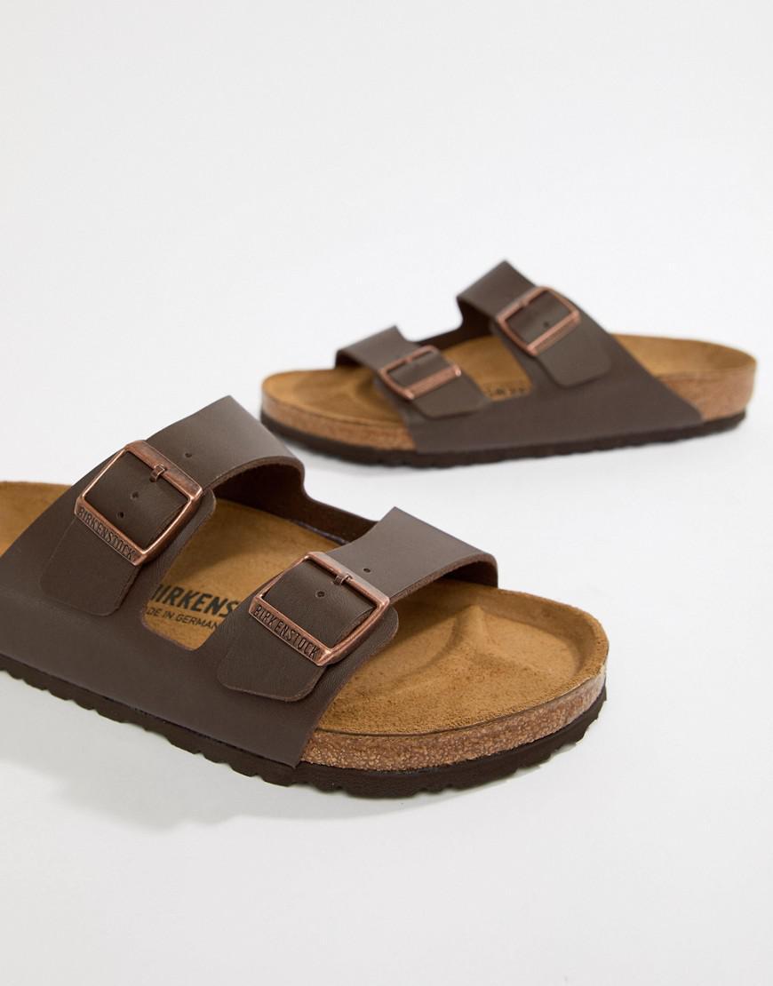 6f9eda678274 Birkenstock Arizona Birko-flor Sandals In Dark Brown in Brown for Men - Lyst