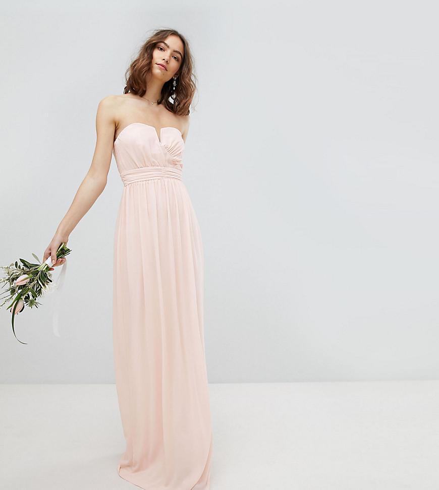8efd7957c971 TFNC London Bandeau Maxi Bridesmaid Dress in Pink - Lyst