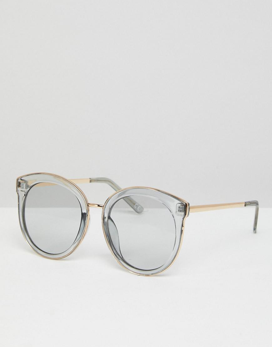 Lyst - Asos Oversized Round Preppy Fashion Sunglasses With Light ...