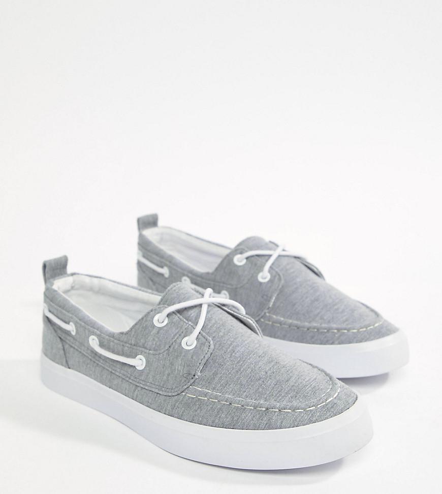 DESIGN Boat Shoes In Grey Marl - Grey Asos i8efEMZ