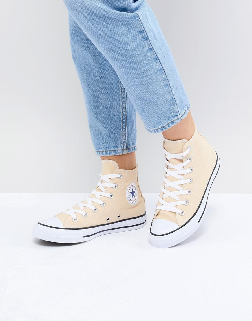 bb908120f155 Lyst - Converse Chuck Taylor All Star Hi Trainers In Yellow in Yellow