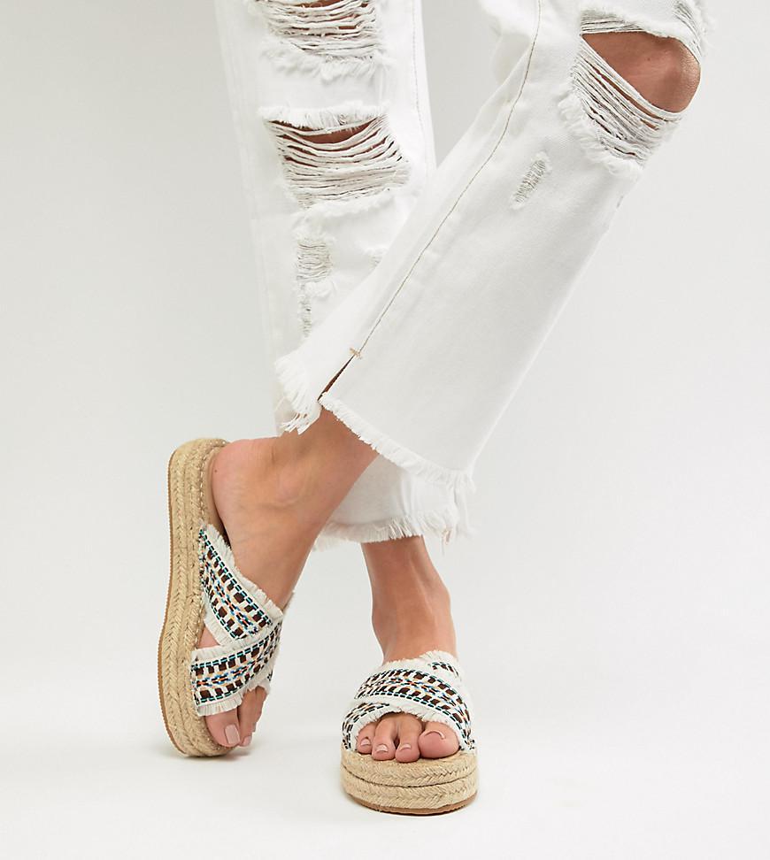 Londres Sandales Espadrille Flatform Rebelle - Blanc 18HoJtjwnw