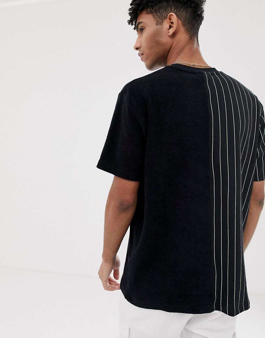 ab1ff79bde07 Fila Black Line Aiden Contrast Terry Towelling T-shirt In Black in Black  for Men - Lyst