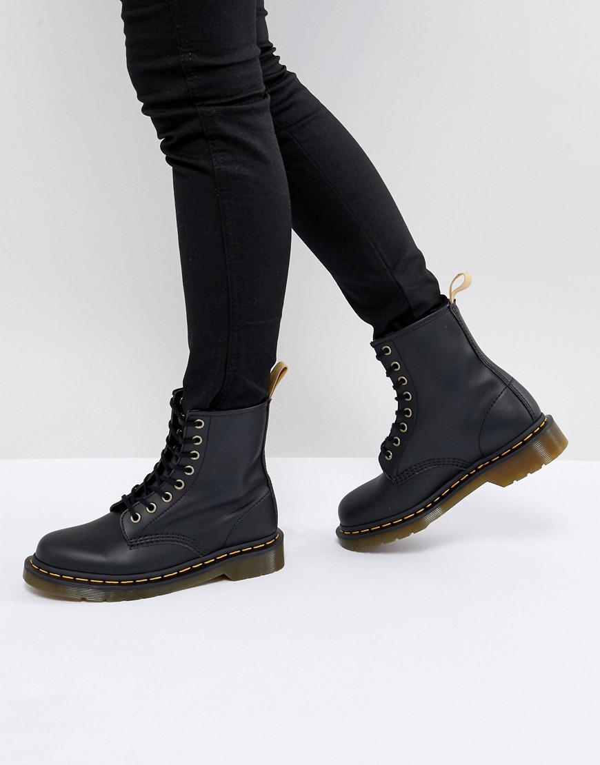 f4250ac6f988 Dr. Martens Lace Up 8 Eye Boot in Black - Lyst