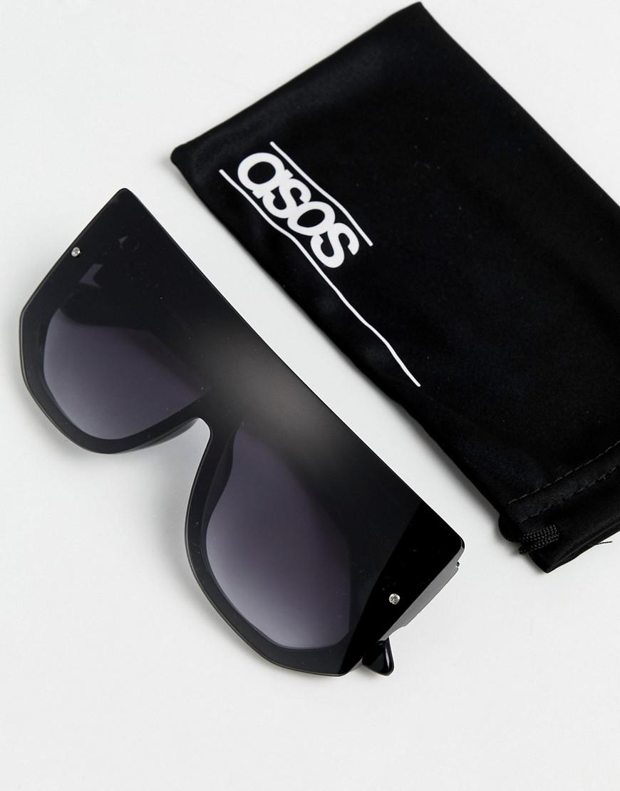 2a6cd62f94 Lyst - ASOS Visor In Black With Laid On Lens in Black for Men