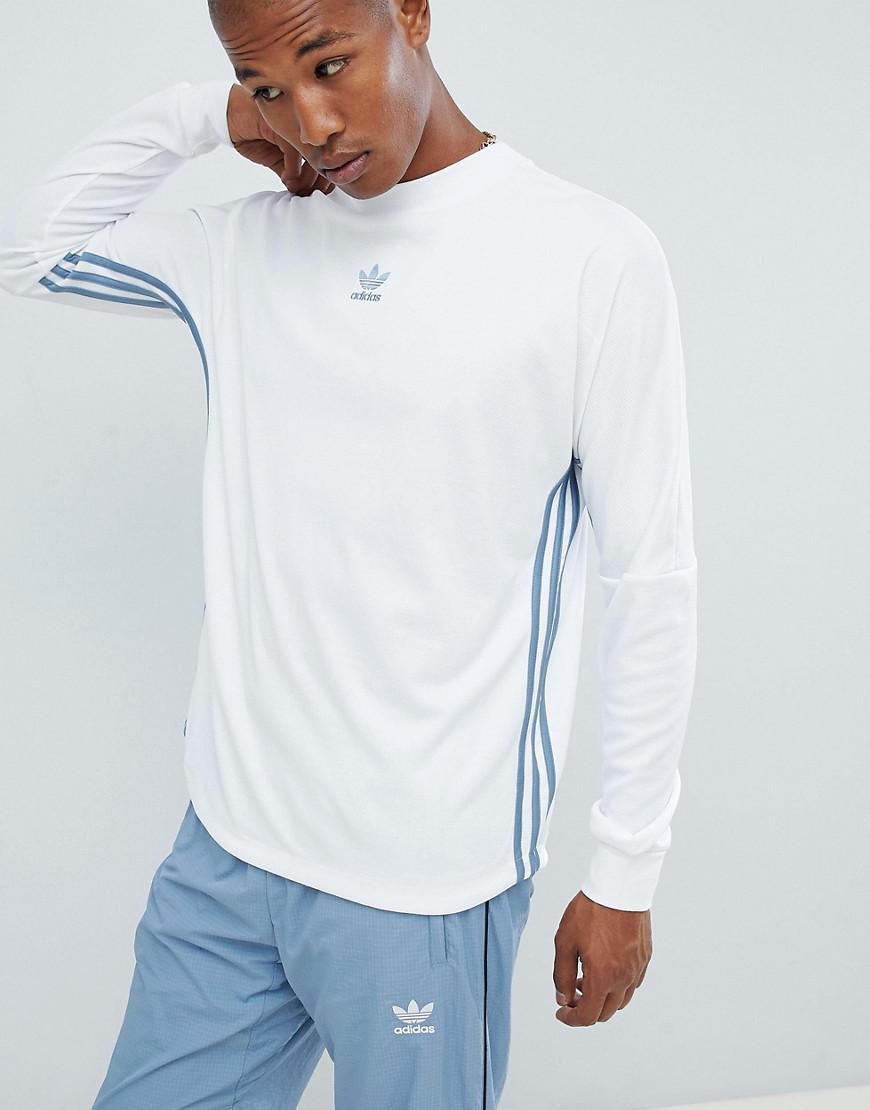 dfcf08a027b8 Lyst - Haut manches longues adidas Originals pour homme en coloris Blanc