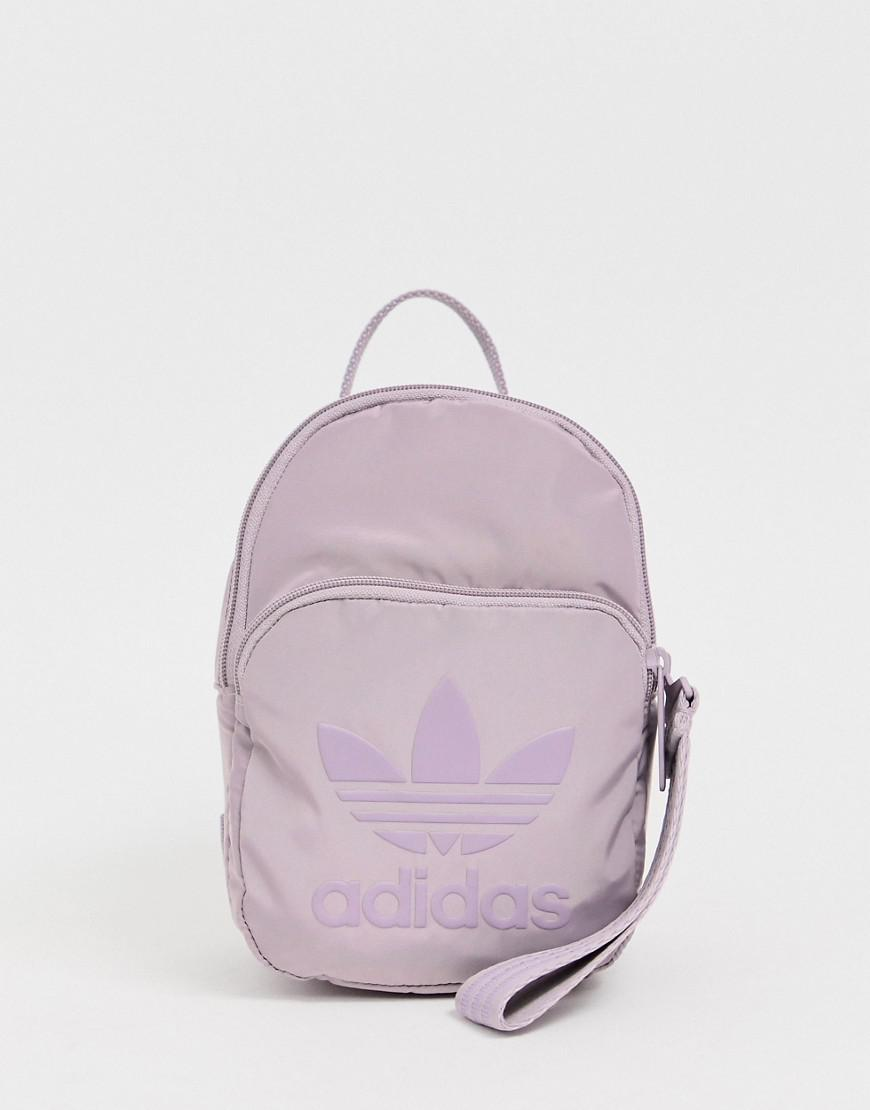 041b35581 adidas Originals Sleek Mini Backpack In Purple in Purple - Lyst
