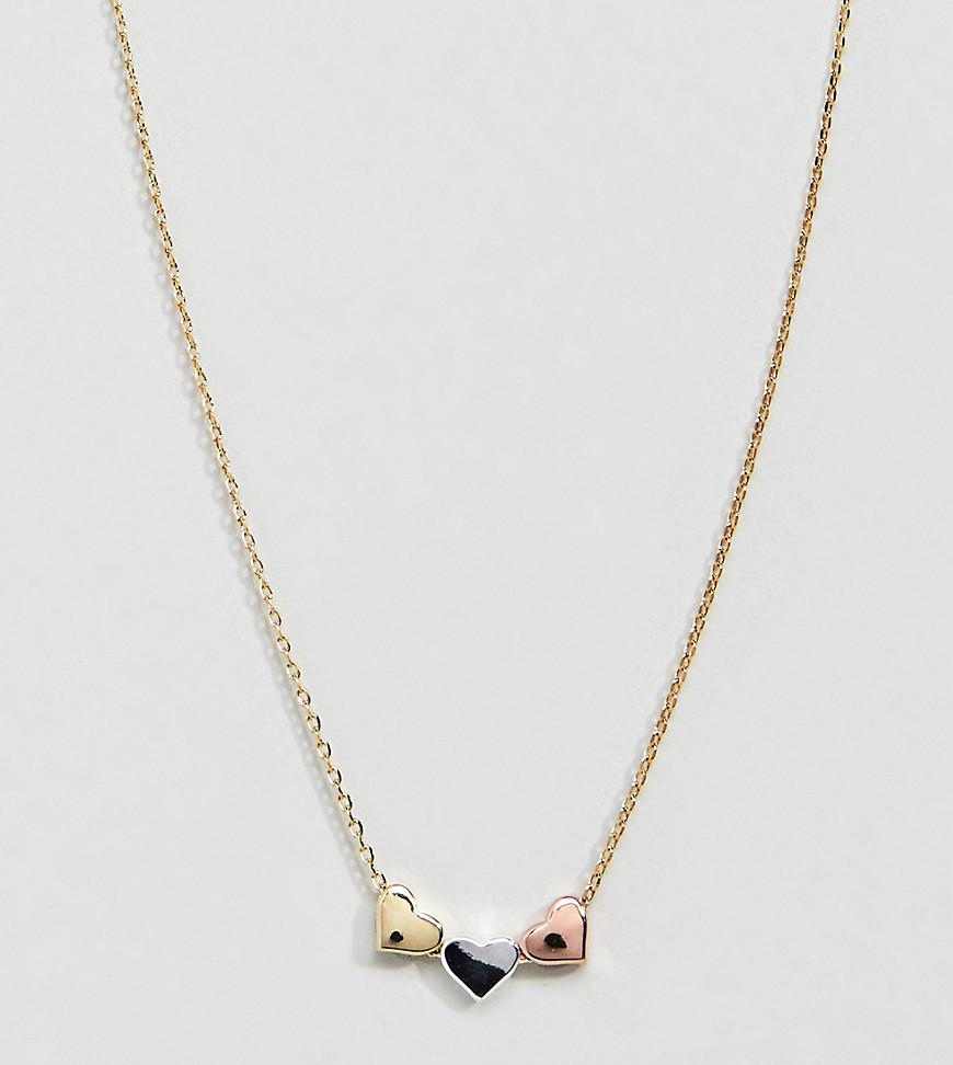 Orelia Golden three-chain necklace aTufd