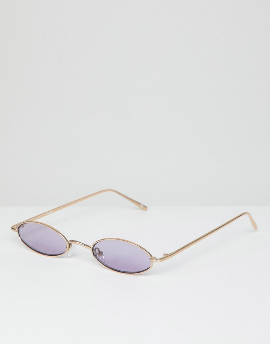 c4311b68f5 Lyst - ASOS Mini Oval In Gold Metal With Lilac Lens in Metallic for Men