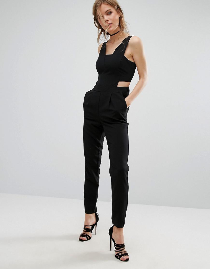 d64f7480a26 Vero Moda Cutout Jumpsuit in Black - Lyst